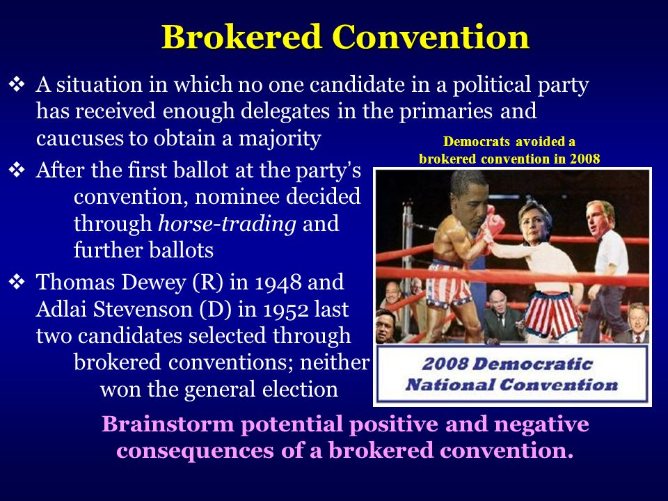 Democrats avoided a brokered convention in 2008