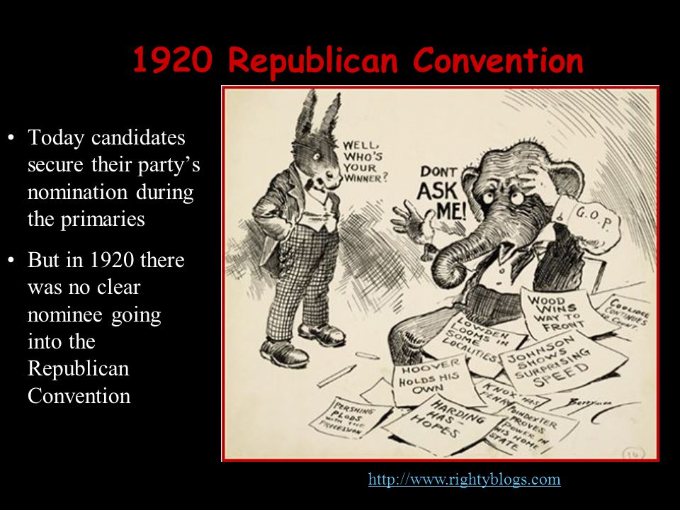 1920 Republican Convention