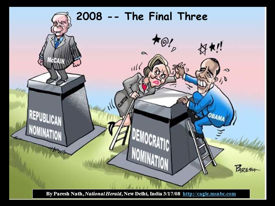 2008 -- The Final Three By Paresh Nath, National Herald, New Delhi, India 3/17/08 http://cagle.msnbc.com.
