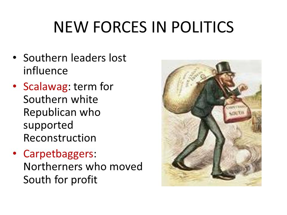 NEW FORCES IN POLITICS Southern leaders lost influence