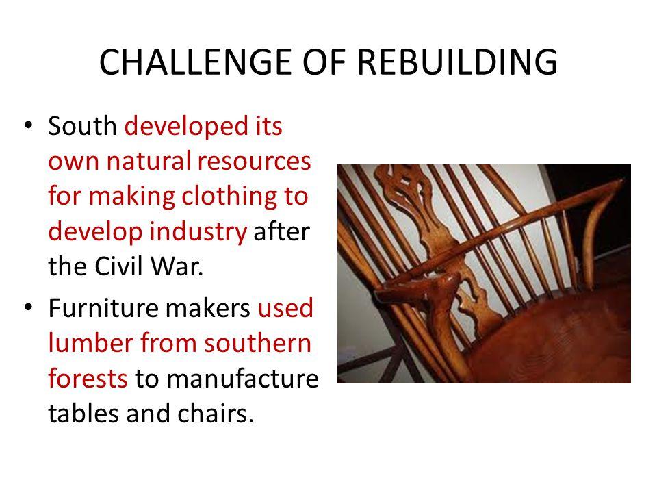 CHALLENGE OF REBUILDING