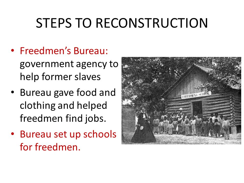STEPS TO RECONSTRUCTION