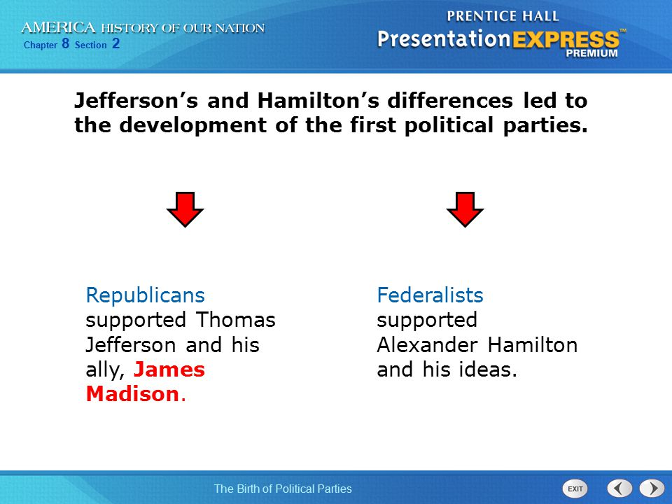 jefferson and hamilton political parties essay