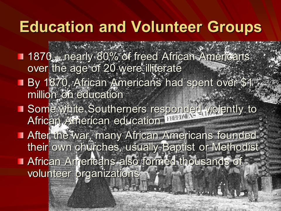 Education and Volunteer Groups