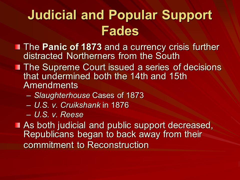 Judicial and Popular Support Fades