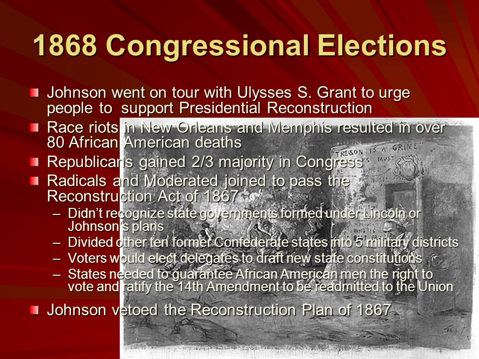 1868 Congressional Elections