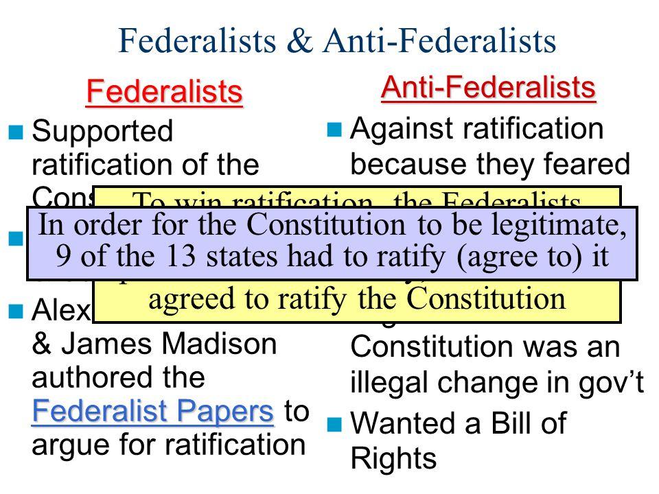 Federalists & Anti-Federalists