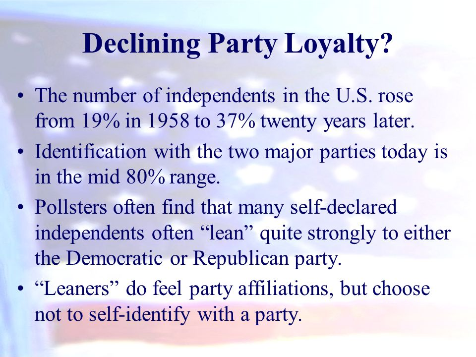 Declining Party Loyalty