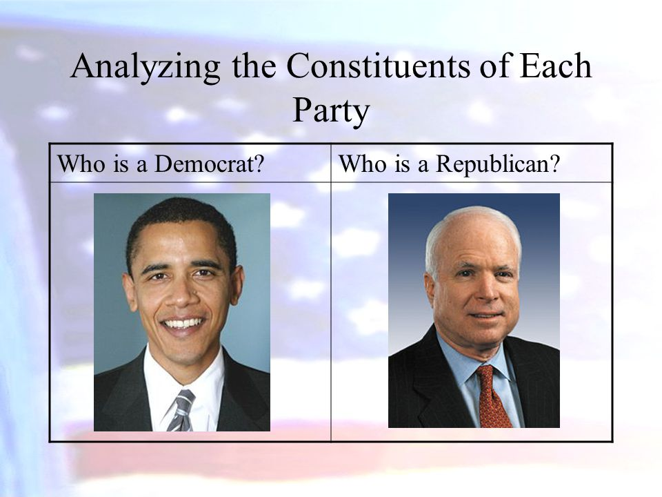 Analyzing the Constituents of Each Party
