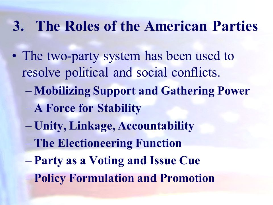 The Roles of the American Parties