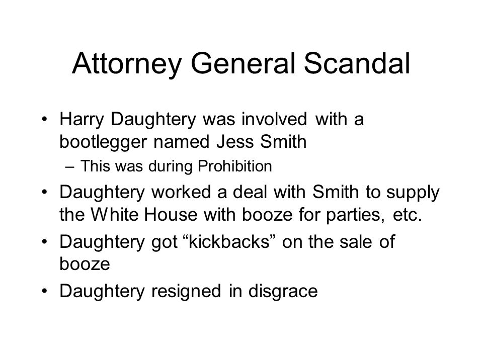 Attorney General Scandal