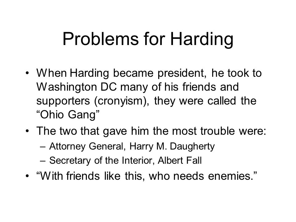 Problems for Harding