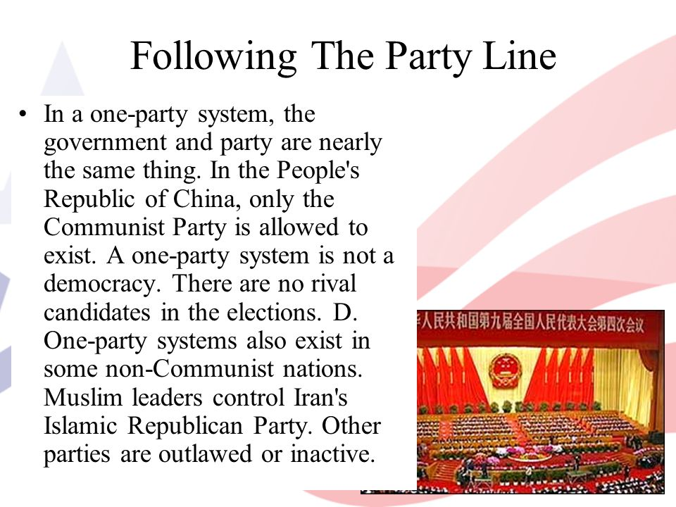Following The Party Line