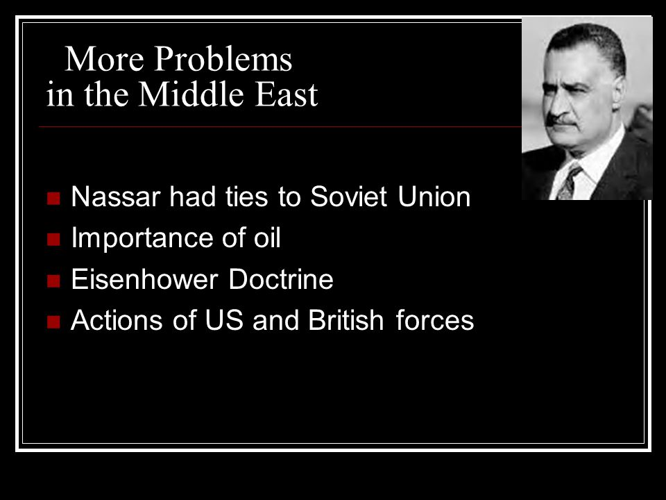 More Problems in the Middle East