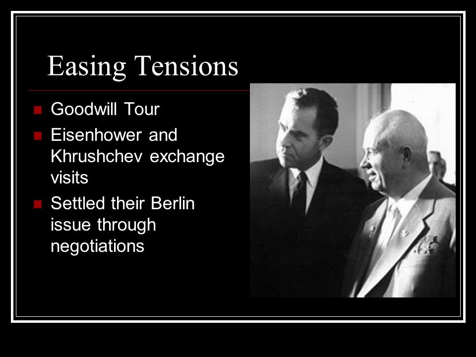 Easing Tensions Goodwill Tour