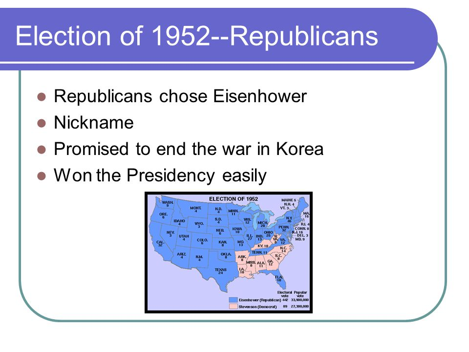 Election of 1952--Republicans