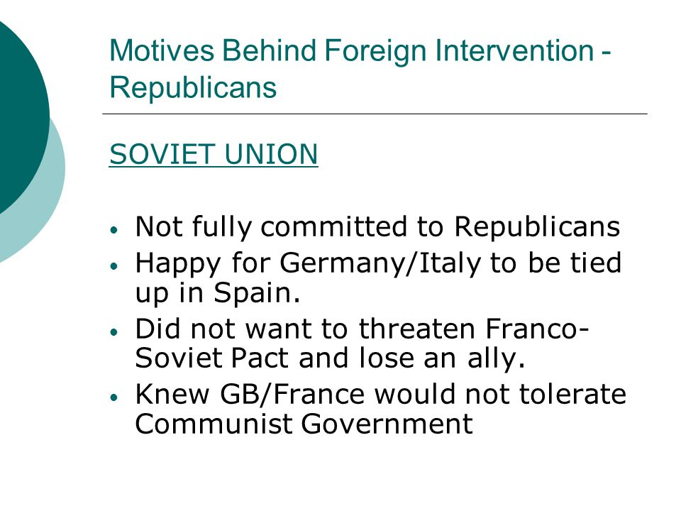 Motives Behind Foreign Intervention - Republicans