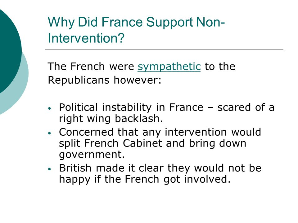 Why Did France Support Non-Intervention