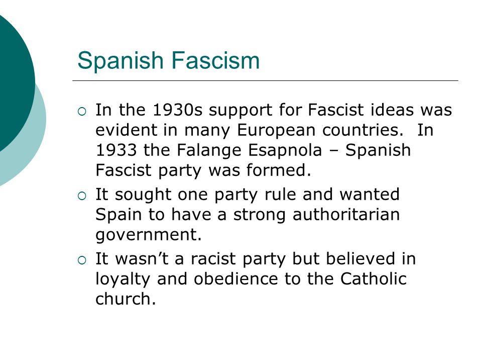 Spanish Fascism