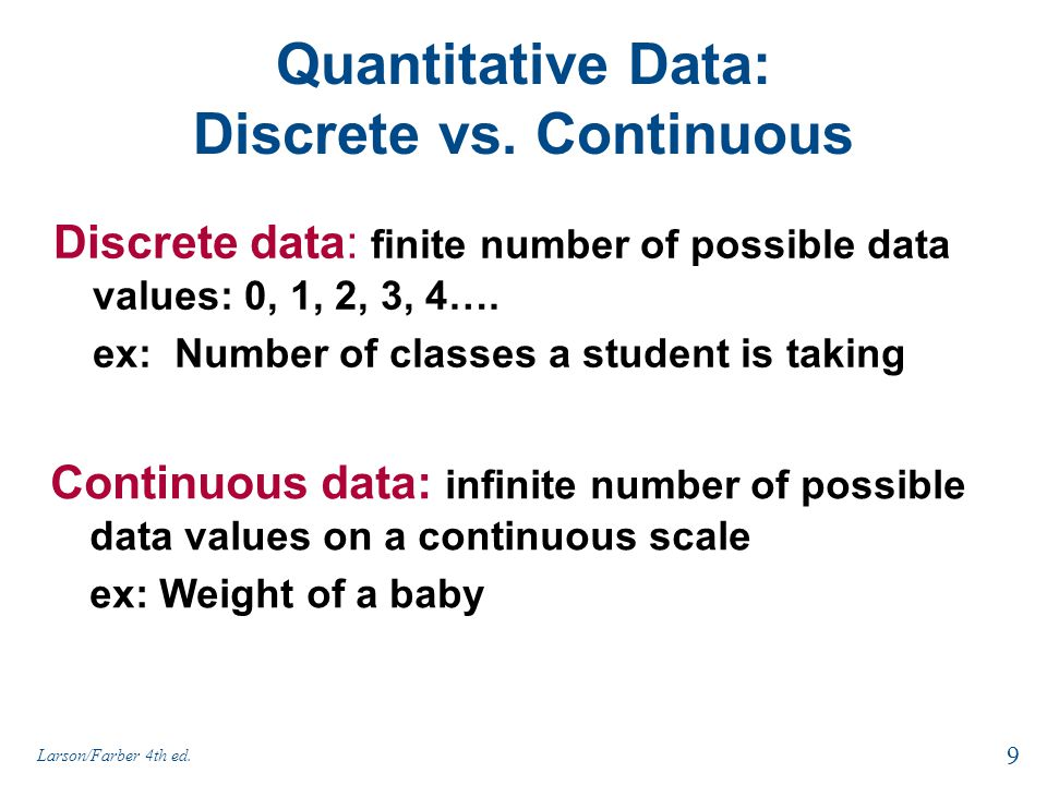 Quantitative Data: Discrete vs. Continuous