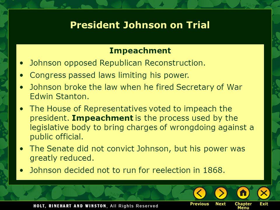 President Johnson on Trial