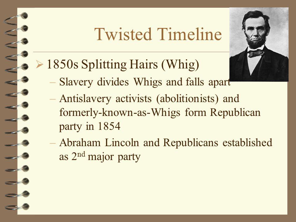 Twisted Timeline 1850s Splitting Hairs (Whig)