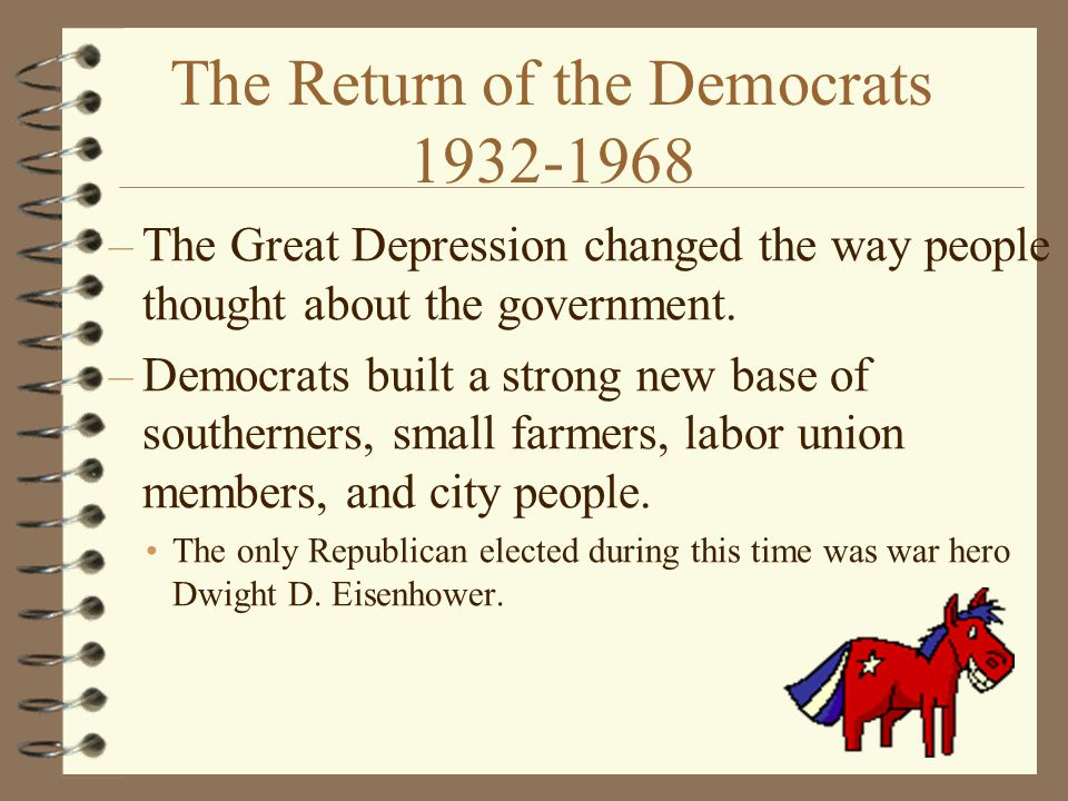 The Return of the Democrats 1932-1968