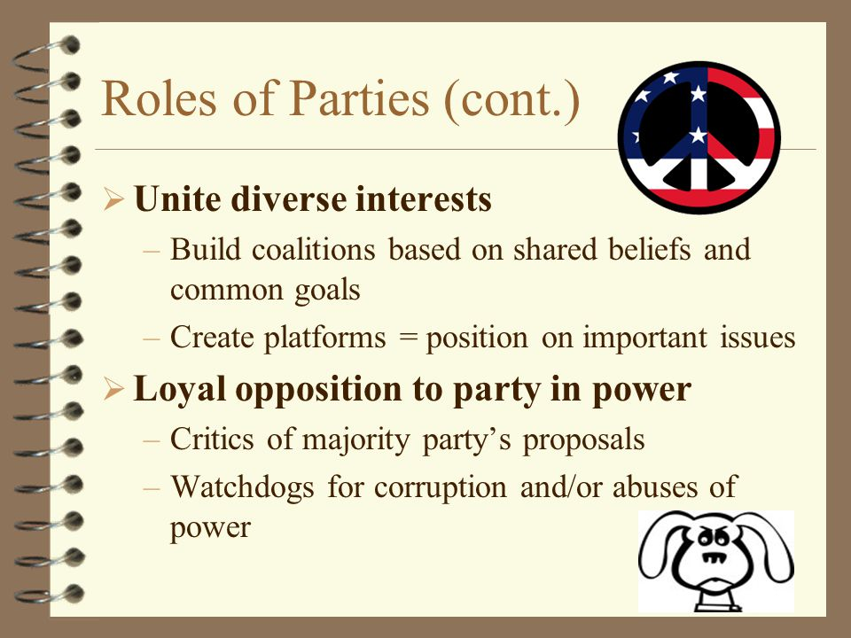 Roles of Parties (cont.)