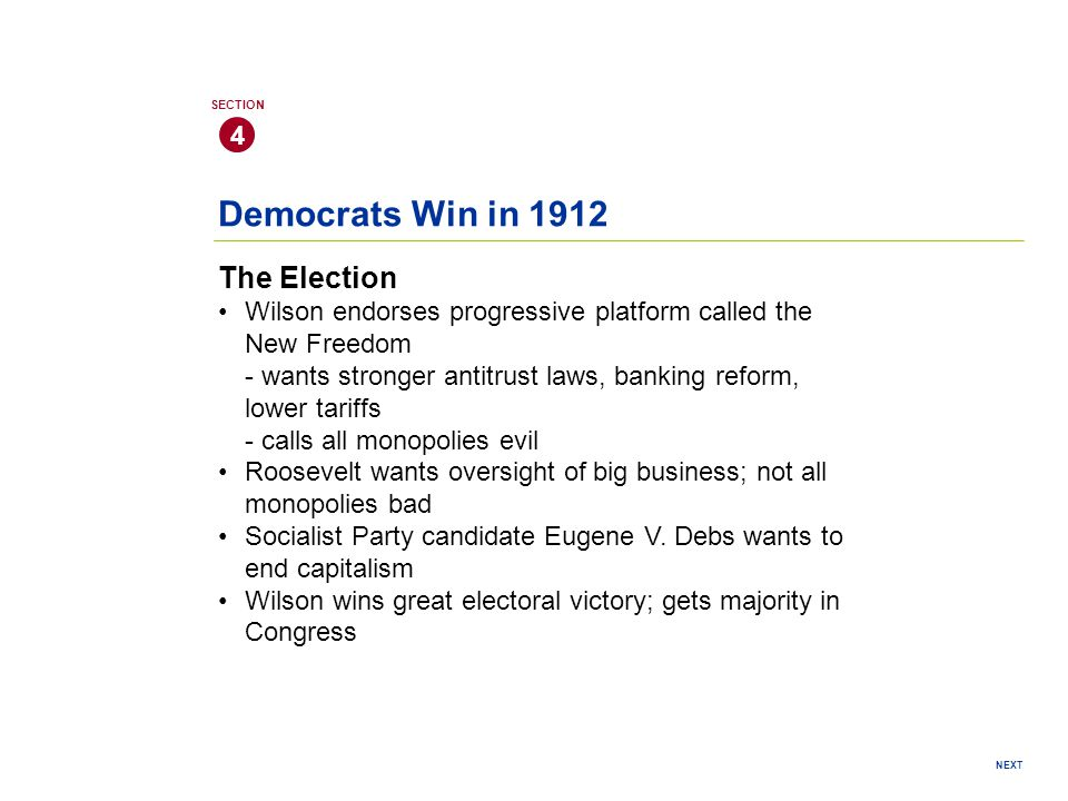 Democrats Win in 1912 The Election 4