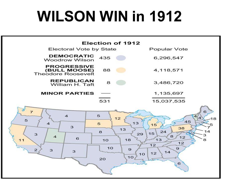WILSON WIN in 1912