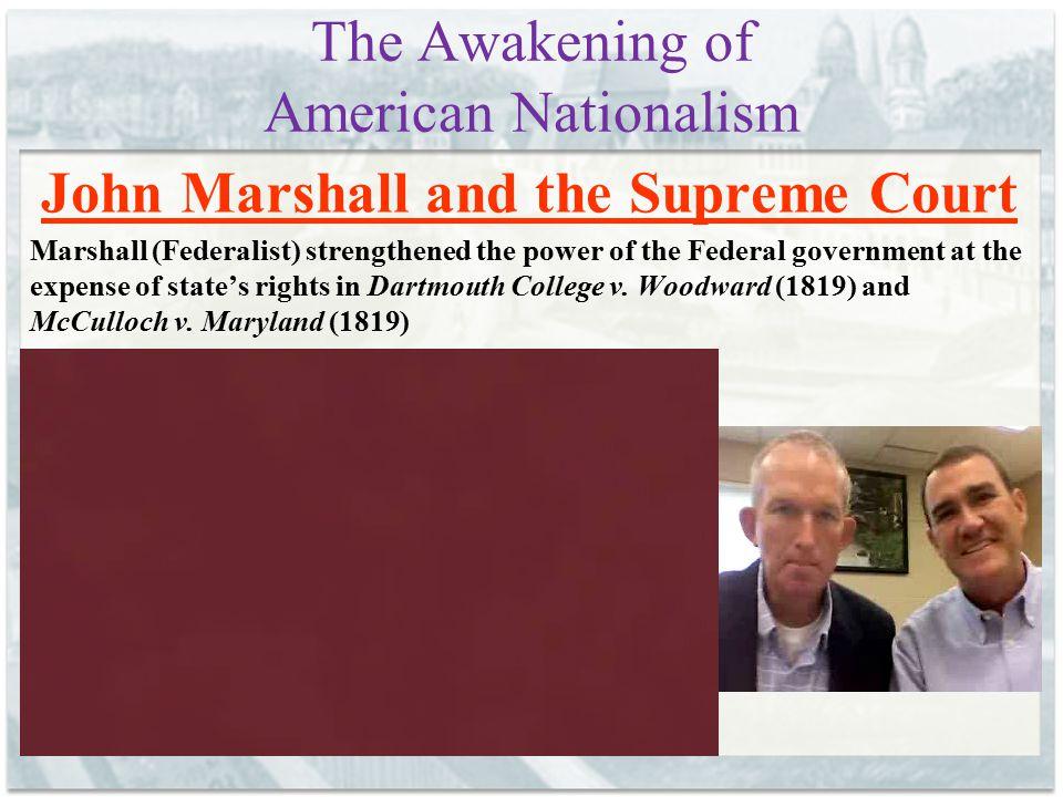 The Awakening of American Nationalism