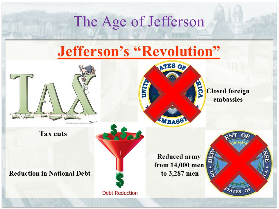 Jefferson's Revolution Reduction in National Debt