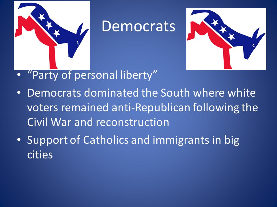 Democrats Party of personal liberty