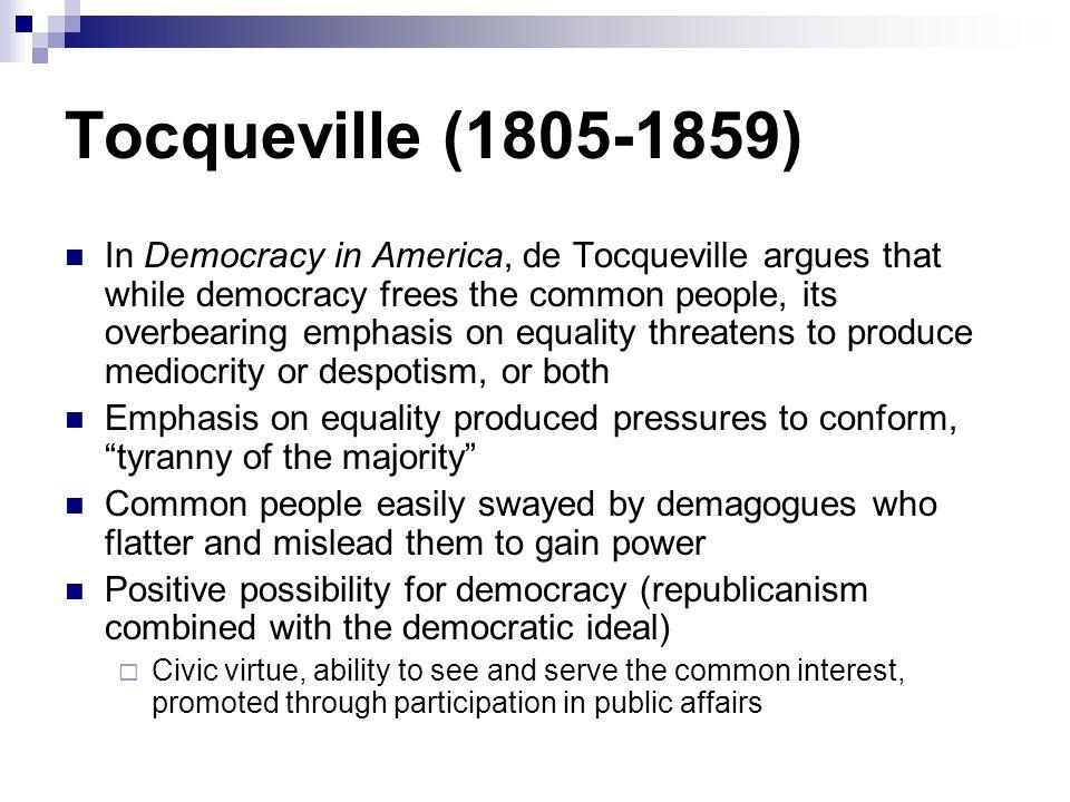 Tocqueville (1805-1859)