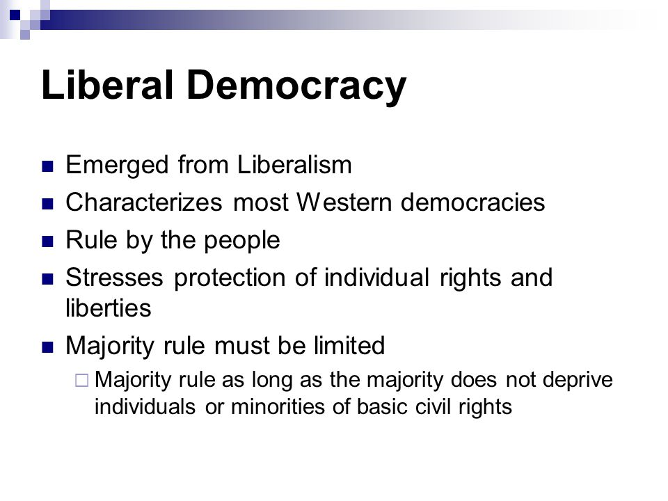 Liberal Democracy Emerged from Liberalism