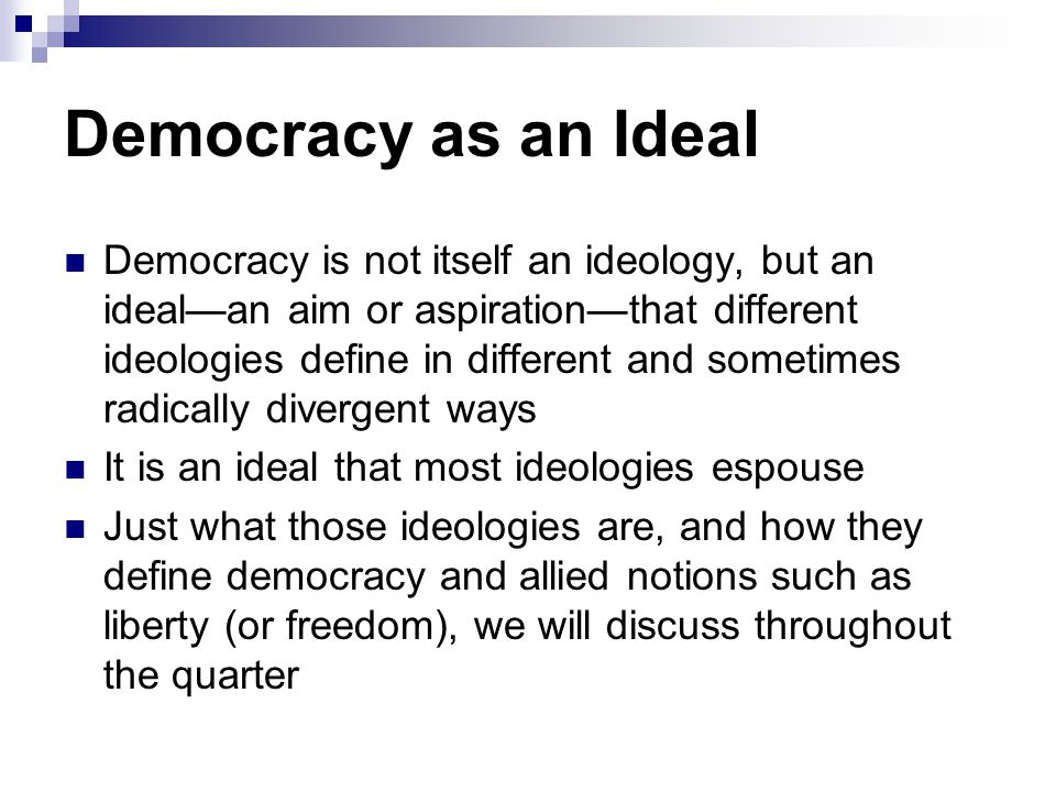 Democracy as an Ideal
