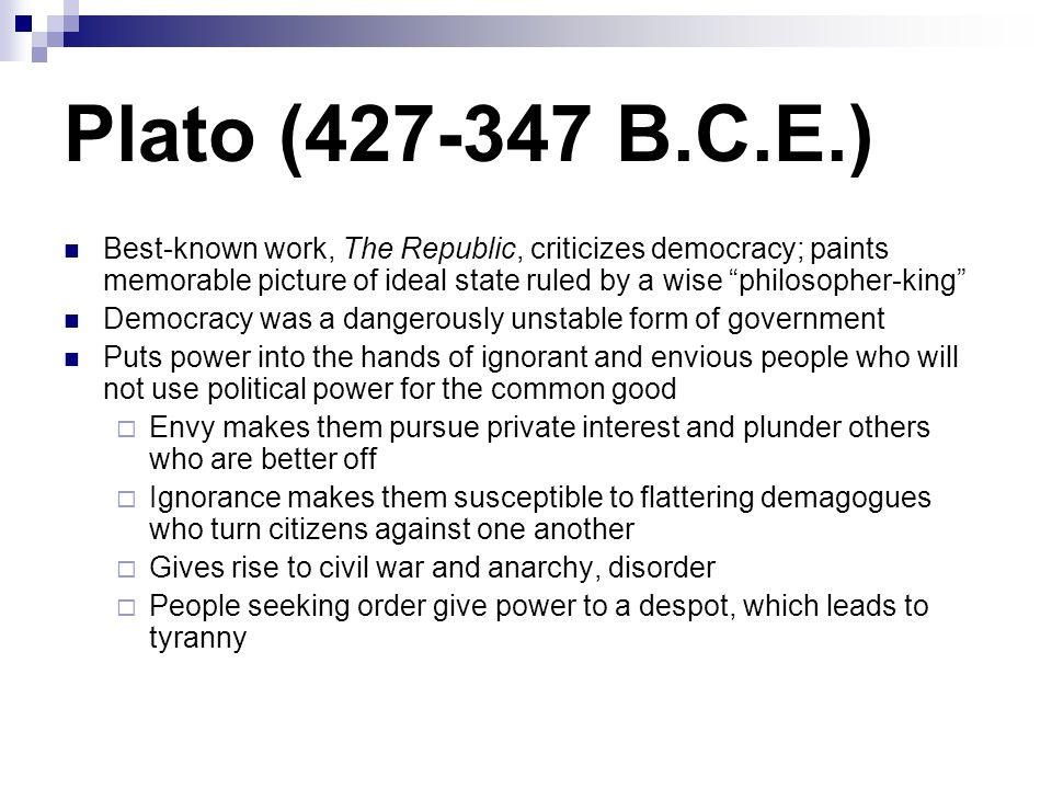 Plato (427-347 B.C.E.)