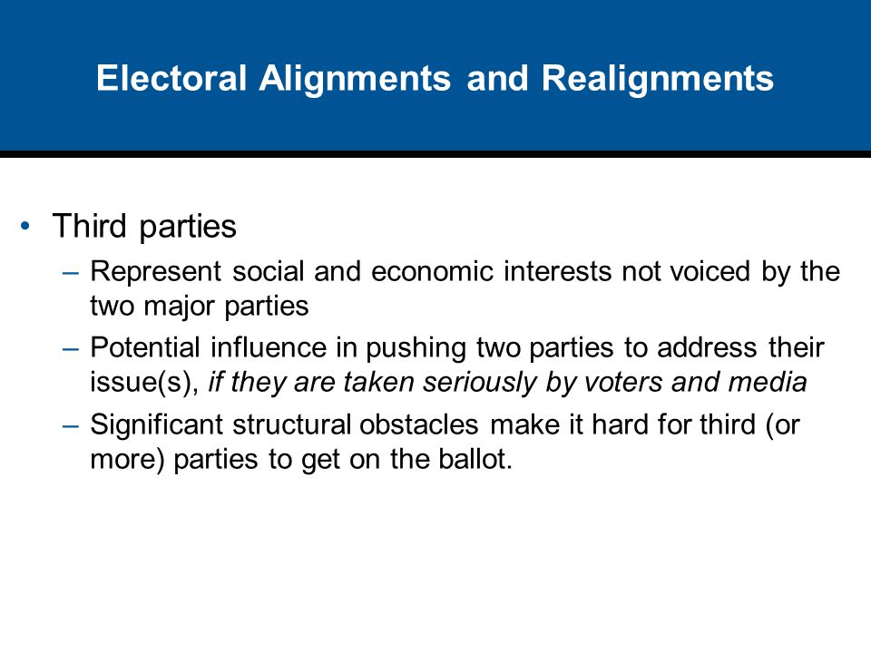 Electoral Alignments and Realignments
