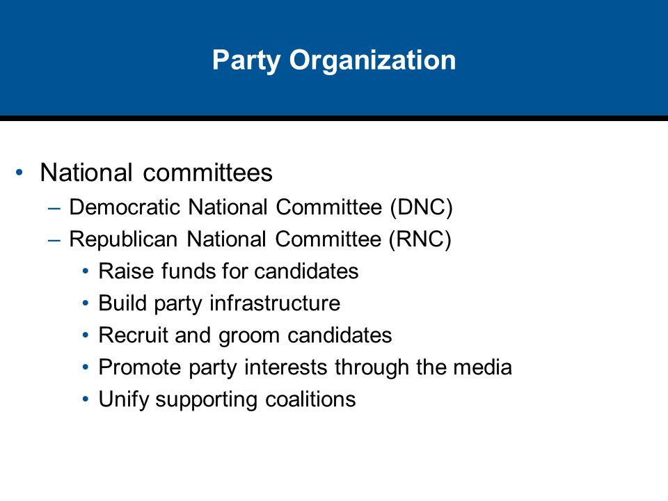 Party Organization National committees