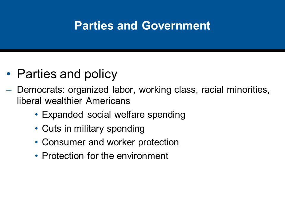 Parties and Government