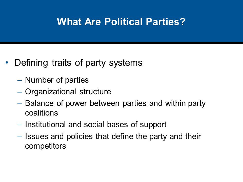 What Are Political Parties