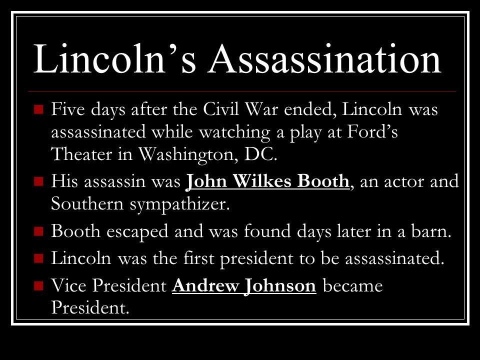 Lincoln's Assassination