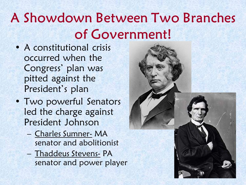 A Showdown Between Two Branches of Government!