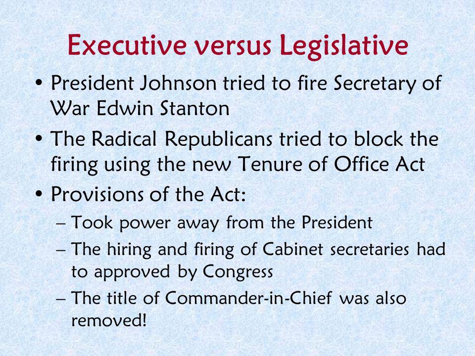 Executive versus Legislative
