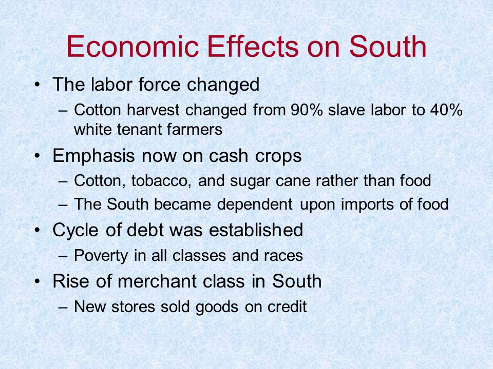 Economic Effects on South