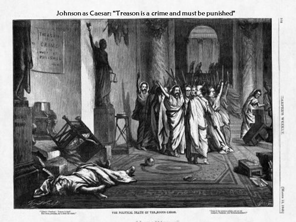 Johnson as Caesar: Treason is a crime and must be punished