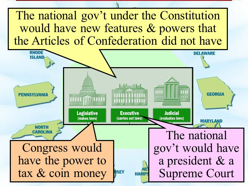 The national gov't would have a president & a Supreme Court