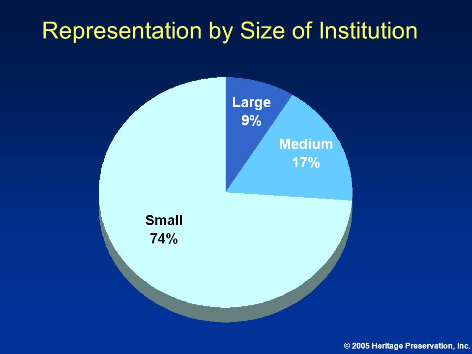 Representation by Size of Institution