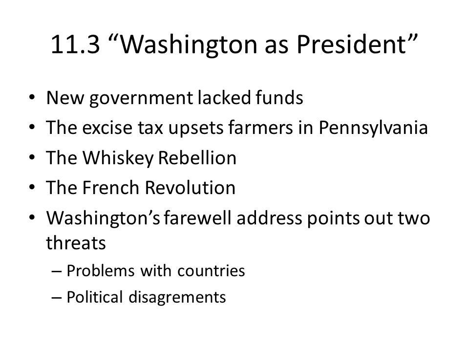 11.3 Washington as President