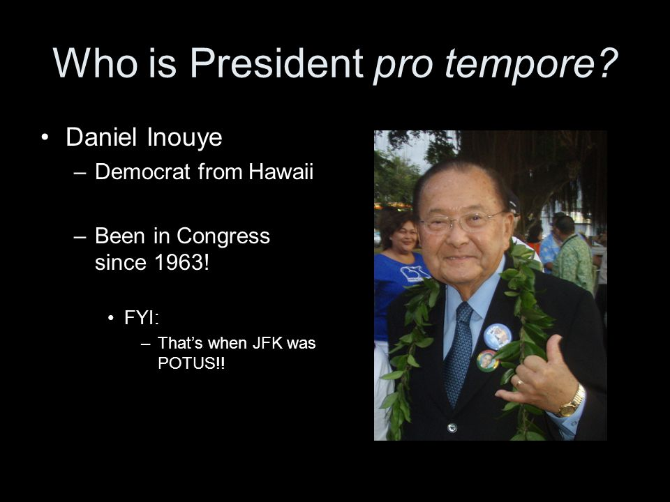 Who is President pro tempore